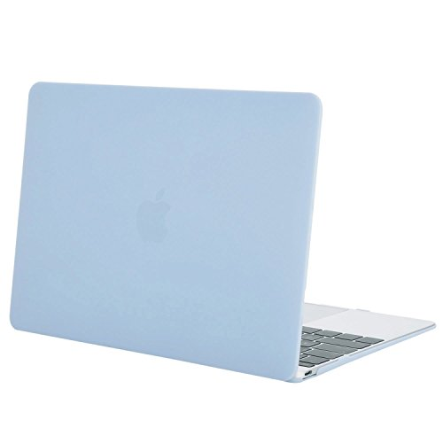 MOSISO Plastic Hard Shell Case Cover Compatible MacBook 12 inch Retina Display Model A1534 (Version 2017/2016/2015), Airy Blue by MOSISO