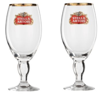 Stella Artois Half Pint 0.33 Litre Lined New, Set Of 2 Glasses