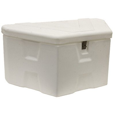 Buyers Products White Poly Trailer Tongue Truck Box (Hinge Trailer Tongue)