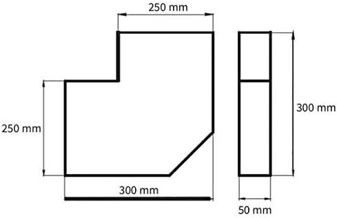 300 x 90 mm Flachkanal Bogen 90/° f/ür waagerechten Einsatz f/ür den Transport von Kaltluft//Warmluft