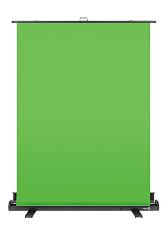 Elgato Green Screen — Collapsible chroma key panel for background removal with auto-locking frame, wrinkle-resistant chroma-green fabric, aluminum hard case, ultra-quick setup and breakdown by Elgato