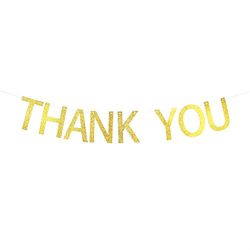 Thank You Wedding Banner Bunting - Wedding Anniversary Bridal Shower Party Decoration Sign Photo Props