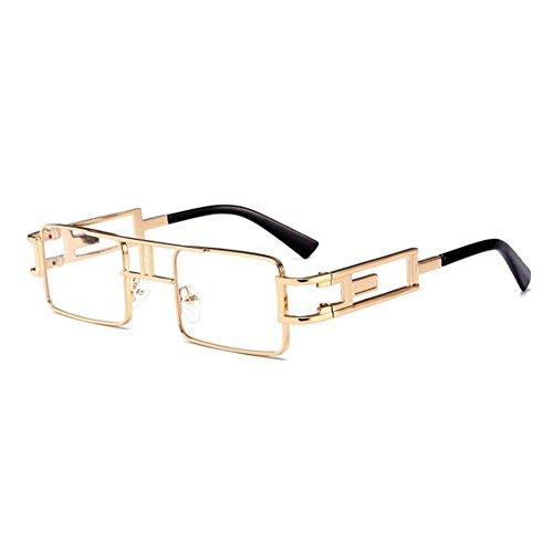 UV400 juqilu Rétro Mens soleil Sunglasses Womens en C3 métal Carré Monture de Steampunk lunettes 0wgUqWx7H