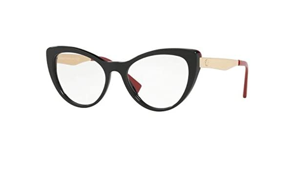 f227c72cd71e Eyeglasses Versace VE 3244 A 5239 BLACK RED  Amazon.ca  Clothing    Accessories