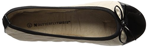 Butterfly Twists olivia - Bailarinas para mujer, color azul Cream Navy