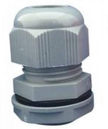 Grey M25 Nylon Cable Gland with Lock NUT and Washer IP68 Protection Packs of 10 APPLIVERSAL