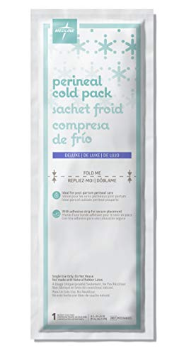 Medline Deluxe Perineal Cold Packs with Adhesive Strip, 4.5