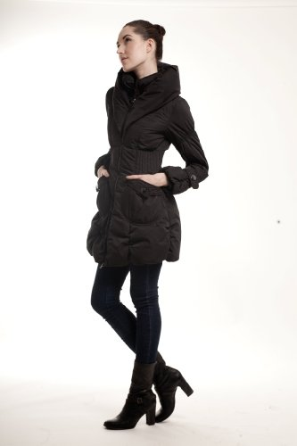 HGL-43 Paris Happy Goat Lucky High Quality Down Coats 600-650 Fill Power 90% Down (M, Black)