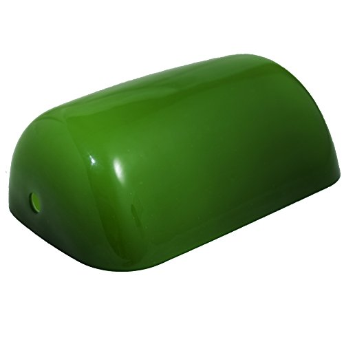 RUDY Replacement Green Glass Shade Cover for Banker Lamp - 8 2/3