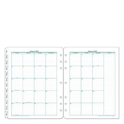 Monarch Original Two Page Monthly Ring-Bound Tabs - Jan 2019 - Dec 2019