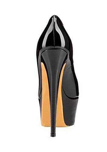 Guoar - Zapatos con tacón Mujer negro