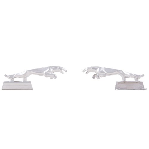 Autofy Jaguar Universal Emblem with Fitting for All Bikes (Set of 2, Chrome)