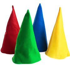 Gnome Hats, Set of 12 Party Hats - Bunco Game Shop Gnome Hats Assorted -