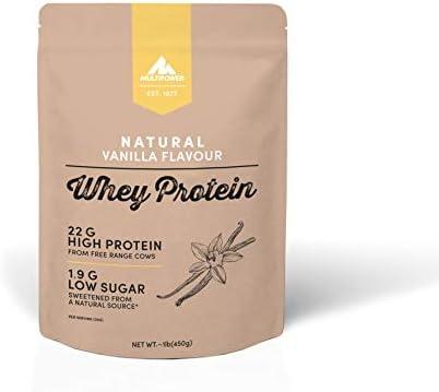 Multipower Whey Protein Natural Eiweißpulver, Proteinpulver aus hochwertigem Molkenprotein, ideal zum Muskelaufbau...