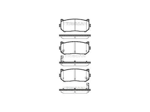 Triscan 8110 18003 Bremsbelagsatz 4-teilig Scheibenbremse