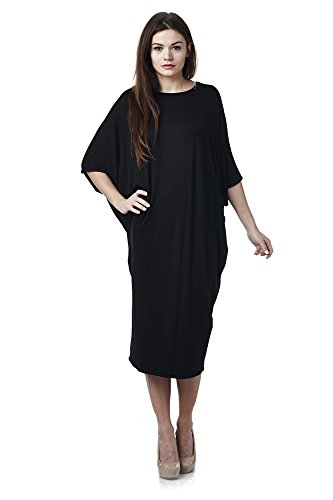 Black Womens Kimono USA Fit Days in 82 Loose Dress Made z5q4x7Bg
