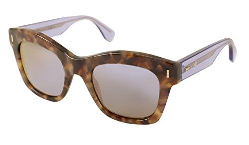 Fendi Women's 0025/S Sunglasses, Brown Beige Havana