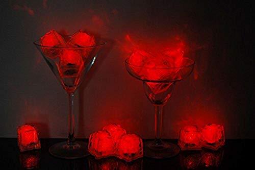 Litecubes Brand 3 Mode Red Light up LED Ice Cubes (12)