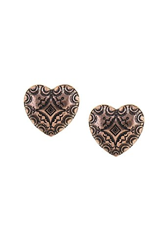 Antique Heart Earrings - 5