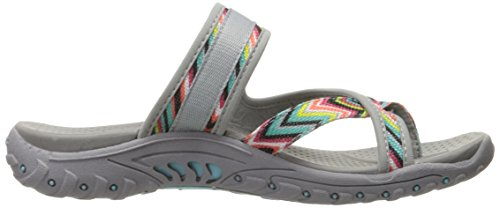 Skechers Ladies Reggae-zig Swag Toe Separator Grigio / Multi