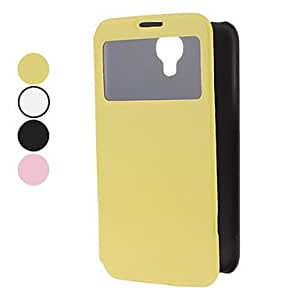 GJYPU Leather Case with Viewable Screen for Samsung Galaxy Note 2 N7100 (Assorted Colors) , Black