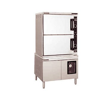 Market Forge ST-24M36D Direct Steam Convection Steamer with (2) Compartments, (12) 12 inch x 20 inch Pan Capacity (Each) & 36 inch Cabinet Base