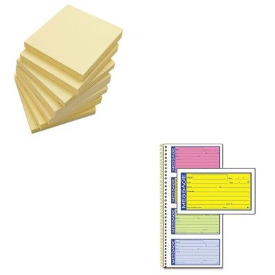 KITABFSC1153RBUNV35668 - Value Kit - Adams Wirebound Telephone Message Book (ABFSC1153RB) and Universal Standard Self-Stick Notes (UNV35668)