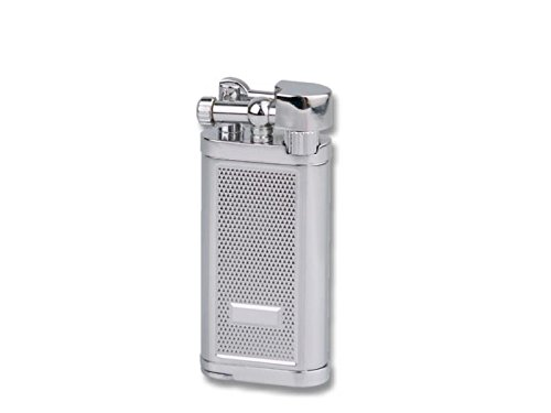Jean Claude Oldie Old Boy Diacut Chrome Adjustable Soft Flame Pipe Lighter with Tamper