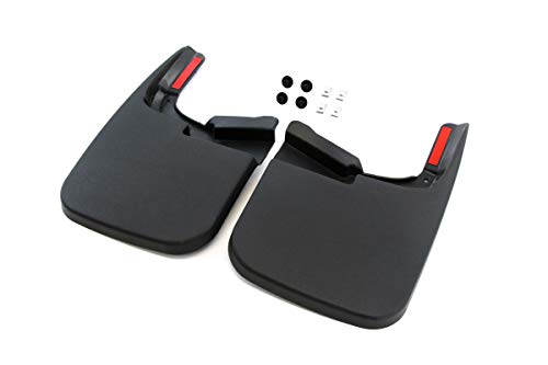 Red Hound Auto Compatible with Ford (2017-2019 F-250 F-350 Super Duty) Mud Flaps Splash Guards Front Molded 2pc Pair (for Vehicles Without Fender Flares) (Textured Front Flap)