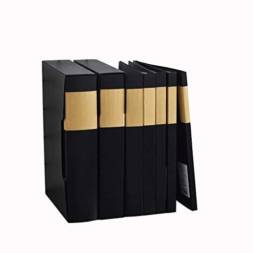 DEI QI Carpeta A4 Simple Blanco y Negro Carpeta de múltiples Capas Oficina Transparente Archivo música Carpeta Estudiante...
