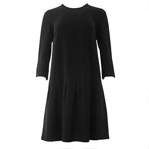 max-mara-womens-taso-3-4-sleeve-pleated-a-line-dress-4-black