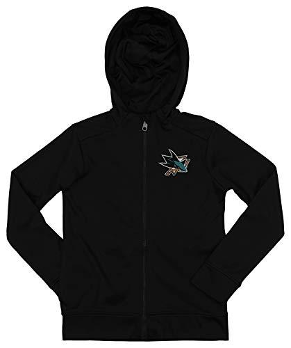 - Outerstuff NHL Sharks Boys 8-20 Performance Full Zip Hoody 20-XL