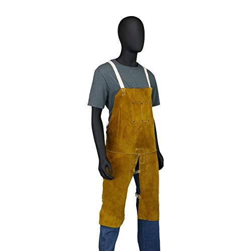 West Chester IRONCAT 7011 Heat Resistant Split Cowhide Leather Welding Split Leg Bib Apron, 24'' W x 48'' L by West Chester (Image #5)