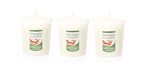 3 Yankee Candle CHRISTMAS COOKIE Sampler® Votive Candles 1.75 oz each