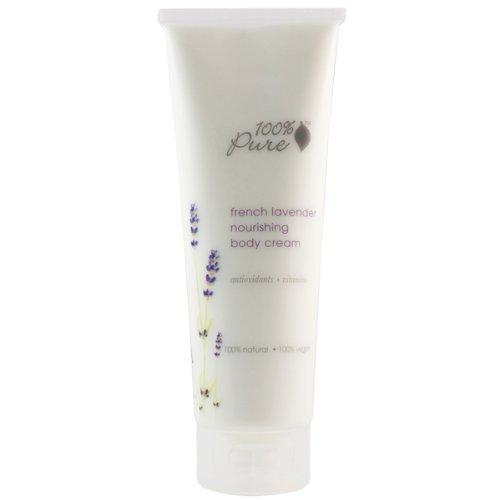 100% Pure French Lavender Nourishing Body Cream, 8.0 Fluid (100% Pure Body Butter)