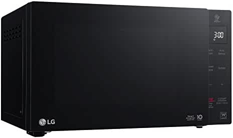 LG LMC0975ASB .9 Cu Ft Counter Top Microwave Oven with Inverter, LED Lamp, EasyClean, Glass touch and Stable Ring, Black