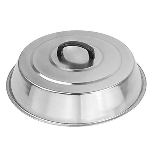 RunTo Griddle Accessories 12 Inch Round Stainless Steel Basting Cover - Cheese Melting Dome and Steaming Cover, Best for Use in Flat Top Griddle Grill Cooking Indoor or Outdoor