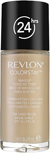 Revlon Colorstay for Combo/Oily Skin Makeup, Sand Beige [180] 1 oz