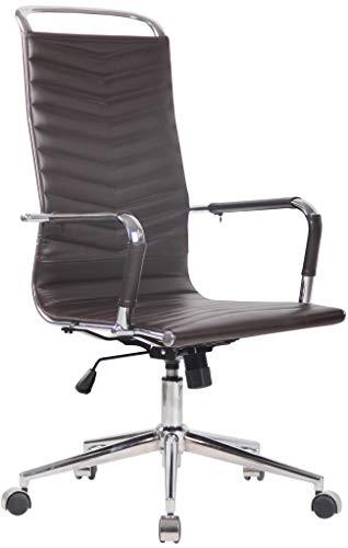 CLP Chaise De Bureau Batley avec roulettes en Similicuir Ou Cuir I Fauteuil Bureau Réglable avec Accoudoirs I Fauteuil…