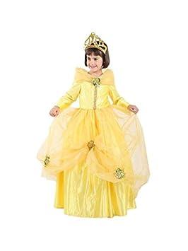 DISBACANAL Disfraz de Princesa Bella niña - Único, 4 años ...
