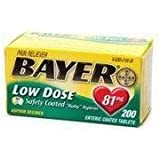 2480108 PT# 262022 Bayer Aspirin Tablet 81mg Safety Coated Low Dose 200/Bt Made by Bayer Consumer Products