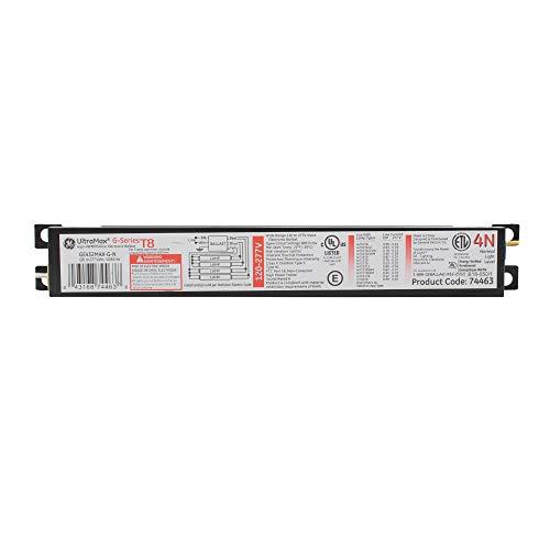 GE Lighting 74463 GE432MV-N 120/277-Volt Multi-Volt ProLine Electronic Fluorescent T8 Instant Start Ballast 4 or 3 F32T8 ()