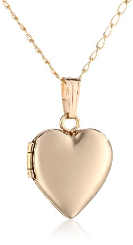 Children's 14k Yellow Gold-Filled Heart Locket Necklace -