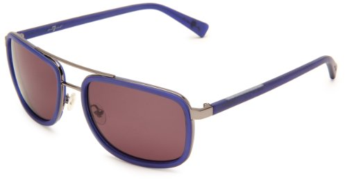 7 For All Mankind Huntington Rectangle Sunglasses,Navy Frame/Grey Lens,One - Frames 7 All Mankind For