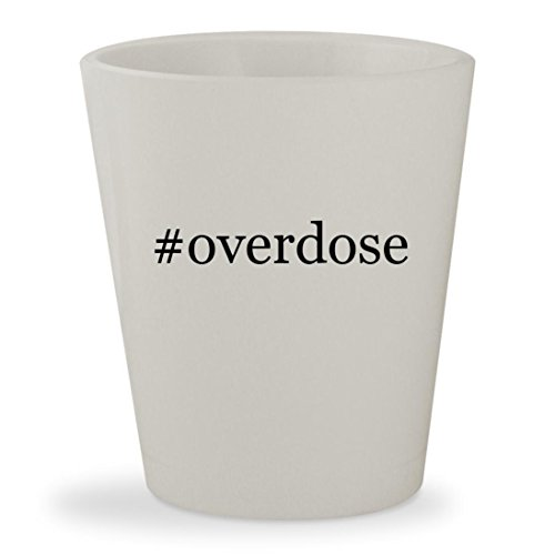 Gungrave Hat - #overdose - White Hashtag Ceramic 1.5oz Shot Glass