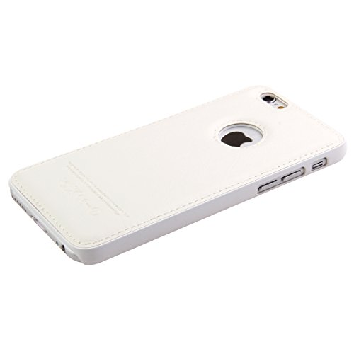 Apple iPhone 6 Hülle en Cuir,iPhone 6S Silikon Bumper Case,Ekakashop Fashion Weiß Flexible Hybrid TPU Silikon Defender Protective Rabat Shell Couvercle Housse Schutzhülle Ledertasche Klapptasche Etui