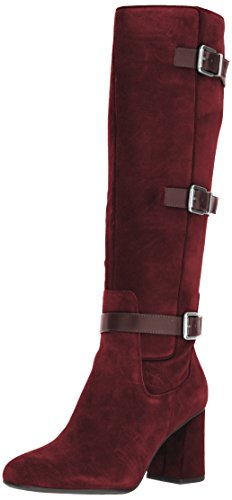 Franco Sarto Women's Knoll Knee High Boot, Augergine, 8.5 Medium US by Franco Sarto