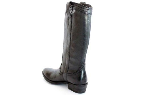 Wrangler L10460A - Bottes hautes en cuir - petit talon - style cowboy - noir