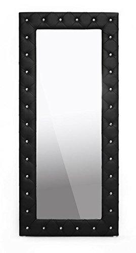 Wholesale Interiors Baxton Studio bbtm27-black-mirror Stella moderno piso espejo con diseño de
