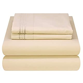 Mezzati Luxury Bed Sheet Set - Soft and Comfortable 1800 Prestige Collection - Brushed Microfiber Bedding (Beige, King Size) (B00IZ21ZB8) | Amazon price tracker / tracking, Amazon price history charts, Amazon price watches, Amazon price drop alerts